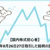 【国内株式初心者】2021年8月26日27日取引した銘柄の記録