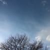 広島の雪の空