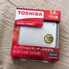 MacBookに外付けポータブルHDD ExFATでフォーマット TOSHIBA HD-PE30