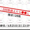 リートラTの売上は現状128枚。 もし200枚を突破したら●●します! 【締切:6/25(日)23:59】