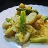 春キャベツと新じゃが、アスパラのサラダ、クミン風味