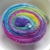 レインボー染めを体験。アナンダのキットを使用して、ソックブランクを染めてみました。