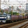 10月10日撮影 東海道線 平塚~大磯間 貨物列車① 5075ㇾ 3075ㇾ