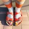 【ファッション】秋の足元にRIRILAの靴下がかなり良さげ。サンダルにも合わせやすいオープントゥが魅力。