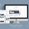 はてぶデザインテーマ★シンプルに魅せる「Creativity」公開しました