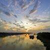 ヤンゴンの朝日とサモサ