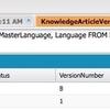 SOQLでナレッジを操作する時の言語の挙動について