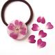 【UVレジン作り方】バラの花びらヘアゴムの作り方