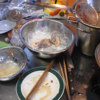 幸運な病のレシピ( 121 ) 鍋大国、「鶏モモフライ・レンコン・椎茸・芋天」ブロッコリー