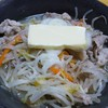 福岡では定番の麦味噌を使い 低糖質な白滝味噌ラーメン