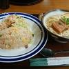 久松製麺所直営の「じんく屋」で一番人気の「チャーハンセット」を食べました