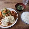 🚩外食日記(467)    宮崎ランチ   「竜宮ラーメン」⑦より、【チキン南蛮定食】‼️