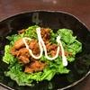 鉄板の副菜 ほうれん草とツナ缶のめんつゆマヨネーズ