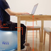 運動不足・猫背改善のためパソコン椅子用にバランスボールを導入