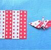 縁起の良い紅白折り紙