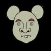 かわいいネズミ(子) のイラスト
