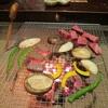 福地温泉 かつら木の郷 囲炉裏での夕食