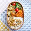 #737 菜の花とコーンのちぎり薩摩揚げと鶏唐揚げ弁当