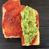 白露のメニュー 9/13~15 アボガドとトマトソース、全粒粉のパン