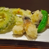 豊洲の「天房」で松茸、ゴーヤ、アワビの天ぷら。