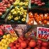 りんご1 カキはほぼ終わり,青果店にはミカンとともにリンゴが沢山並べられています.サンふじ,ふじ,王林.リンゴの品種について少しだけ調べてみました.生産量断然トップのふじ.袋がけをしないとサンふじと呼ばれて店頭へ.生産量2位のつがるは早生種で今日見た店では扱っていませんでした.緑黄色ながら生産量3位と頑張っている王林.香りが良く甘い品種です.