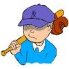 New York Yankeesの帽子を深被りしたサザエさんカツオ出来ましたで〜