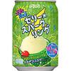 【味感】☆ぷるっシュ!! ゼリー×スパークリング メロンクリームソーダってどんな味?(大正解ですよ、ナタデココ。飲む?or食べる?「おやつドリンク」何気に舌触りの良いゼリー)