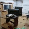 音楽スタジオ「小屋(仮称)」の解体進んでいます。。