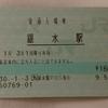 No.127 【冬旅2018】JR九州 銀水・上熊本・川内・鹿児島中央駅 入場券(マルス・E-POS仕様)