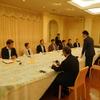 20日、福島市長と市選出県議との朝食会。県への要望を伺いました。午前中民商婦人部県婦協総会であいつ。本田宏氏が記念講演。