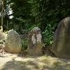 太平寺にまつられる二基の庚申塔 福岡県福津市上西郷