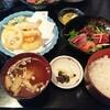 かき忠@新潟市中央区古町で天ぷらとお刺身の和食ランチ