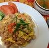 タイ風チャーハンとスープ