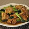 豚角煮と小松菜炒め