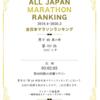 2020年の全日本マラソンランキング