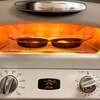 コンロ3つが埋まっても、オーブントースターで目玉焼き!