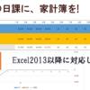 【収支】Excelで簡単家計簿作成【貯金】