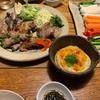 【肉巻き野菜とフムス】【庭しごと】