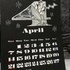 卓上カレンダー4月