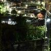 坂の上からの夜景 福岡県北九州市八幡東区東台良町