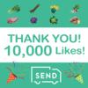 感謝☆SEND Facebook「10,000いいね!」到達しました!