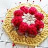 かぎ針編みモチーフのミニ巾着