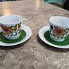 一目惚れしたドイツ製食器KAHLAのカップ&ソーサーでお茶の時間を楽しみに。