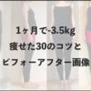 【まとめ】1ヶ月で3.5kg痩せたミニマリストのダイエット30のコツ