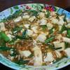 8月16日の晩飯 麻婆豆腐と中華風コーンスープを作ってみた