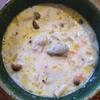 牡蠣とアミエビと野菜のチャウダー