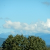 御嶽は雲がかかっていた