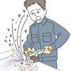 働く人の事故 ケガ 病気のイラスト