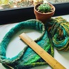 毛糸で編む山用のバフ その2・毛糸の量を確認する