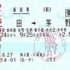 上田→茅野 乗車券